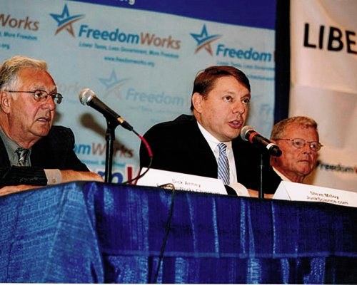 Steve Milloy on a FreedomWorks discussion panel with Former House Majority Leader Dick Armey and Sen. Jim Inhofe, Sep 2009.