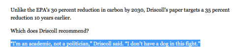 Driscoll no dog in fight comment